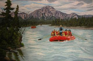 Rafting the Athabasca at Jasper
